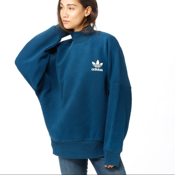 adidas mock neck sweatshirt